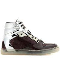 Balenciaga Metallic Leather High-Top Sneakers - Lyst