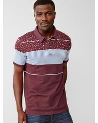 Gap Lived-In Colorblock Floral Stripe Polo - Lyst