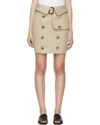 720854dc1 Khaki Robert Montgomery Edition Trench Miniskirt - Natural