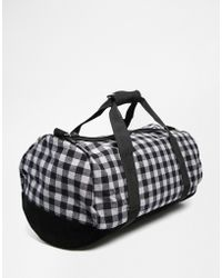 Mi-Pac - Gingham Barrel Bag - Lyst