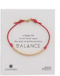 Dogeared Balance Tube Bracelet - Pink