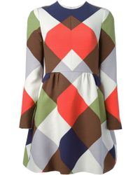 Valentino Printed A-line Dress - Lyst