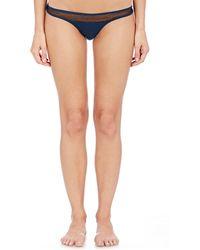 Skin - Tulle-inset Jersey Bikini Briefs - Lyst