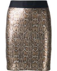 Roseanna 'Berlin' Python Mini Skirt - Lyst