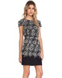 Tibi Black Embroidery Dress - Lyst