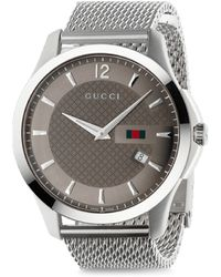 Gucci G-Timeless Polished Stainless Steel Watch silver - Lyst