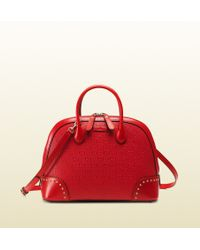 Gucci Bright Diamante Gg Leather Top Handle Bag - Lyst