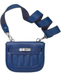 hermes women's bleu jean epsom bastia - blue