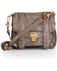Proenza Schouler Ps1 Pouch Leather Crossbody Bag - Lyst