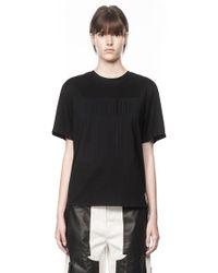 Alexander Wang T-shirt With Barcode Logo - Black