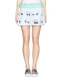 Anna K Eye Print Elastic Waist Shorts - Lyst