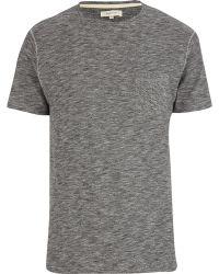 River Island Grey Grindle Tshirt - Lyst