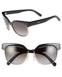 Chloé 'Dafne - Clubmaster' 57Mm Gradient Sunglasses - Lyst