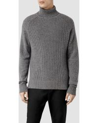 AllSaints Tyree Roll Neck Jumper - Grey