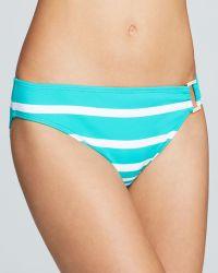 Ralph Lauren - Lauren Kaylee Stripe Ring Front Hipster Bikini Bottom - Lyst