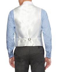 Favourbrook Beige Linen And Satin Waistcoat - Natural