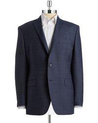 Calvin Klein Plaid Wool Jacket - Lyst