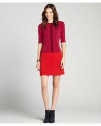 Donna Morgan Cerise Colorblock Drop Waist Shift Dress - Lyst