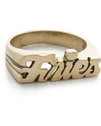 Snash Jewelry Fries Ring - Gold - Metallic