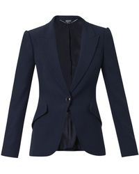 Alexander McQueen Leaf-Crepe Tailored Jacket - Lyst