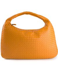 Bottega Veneta Orange Intrecciato Tote - Lyst