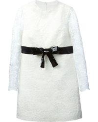Saint Laurent School Girl Mini Dress - Lyst