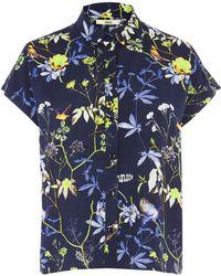 Oasis Midnight Bird Roll Sleeve Shirt - Lyst