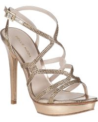 Pelle Moda Farah Evening Sandal Platinum Leather - Lyst