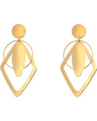 Stella McCartney Geometric Clip Earrings - Metallic