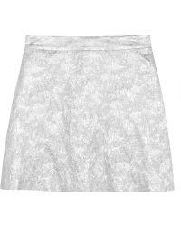 Lulu & Co - Metallic Brocade Mini Skirt - Lyst