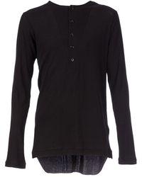 Ann Demeulemeester Button Placket T-Shirt - Lyst