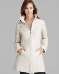 Laundry by Shelli Segal Coat Packable Mini Quilted - White