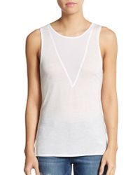 French Connection Polly Plains Tank Top - Lyst