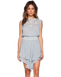 Jen's Pirate Booty Bolinas Mini Dress gray - Lyst