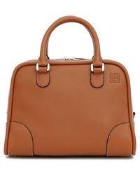 Loewe Women'S 'Small Amazona 75' Leather Satchel - Beige - Lyst