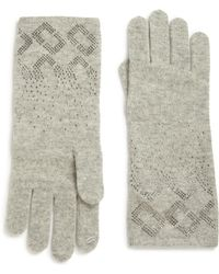 Diane von Furstenberg - Embellished Wool & Cashmere Gloves - Lyst