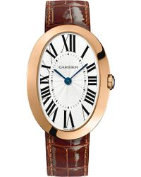 Cartier Baignoire 18ct Pink-gold Large Watch - Lyst