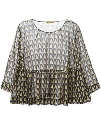 Peter Jensen Flared Printed Blouse - Lyst