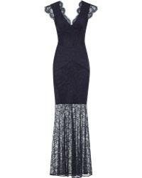 Reiss Ambrosia Floral Lace Maxi Dress - Lyst
