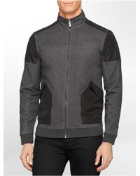 Calvin Klein White Label Classic Fit Double Ponte Knit Zip Front Jacket - Lyst