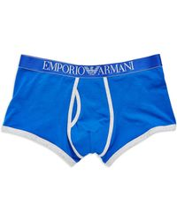 Emporio Armani Stretch Cotton Trunks - Lyst