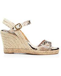 Delman - Open Toe Platform Wedge Sandals - Rhonda - Lyst