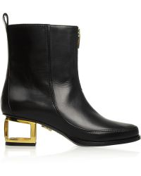 Maiyet - Cutout-heel Leather Ankle Boots - Lyst