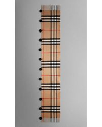 Burberry Check Cashmere Pom-Pom Scarf - Lyst