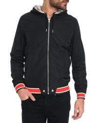 Diesel Hellad Black And Grey Reversible Nylon Jacket - Lyst