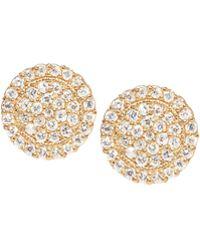 Jamie Wolf - Scalloped Pave Diamond Stud Earrings - Lyst