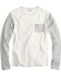 J.Crew Slim Long-sleeve Flagstone Contrast Pocket Tee - Lyst