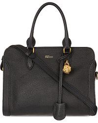 Alexander McQueen Padlock Leather Cross-Body Bag - Lyst