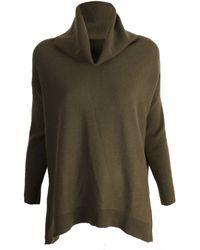 Gladys & Pixie Dark Green Roll Neck Poncho Sweater - Lyst