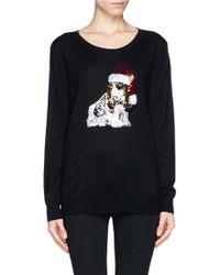 Lyst Markus Lupfer Natalie Sequin Basset Hound Christmas Sweater